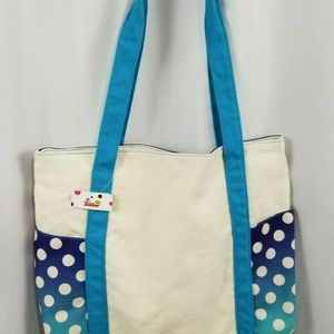 Disney Bags - Disney Minnie Mouse Canvas Tote Blue White